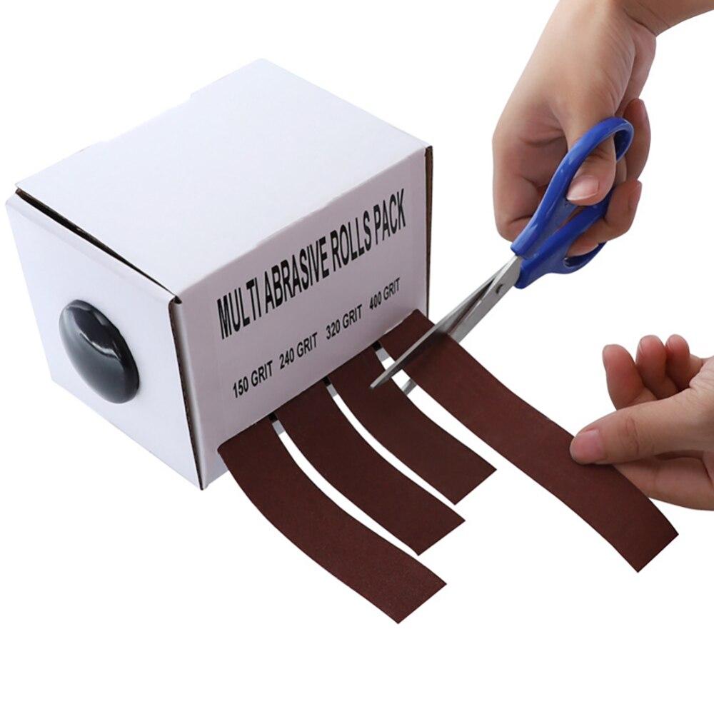 4 piezas lijado cinturón dibujable Emery paño de papel de lija de cinturones de papel de lija rollo para madera Turner automotriz