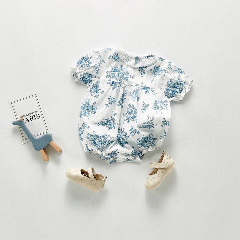 Yg brand children's summer new baby bag fart garment printed short sleeve triangle climbing newborn