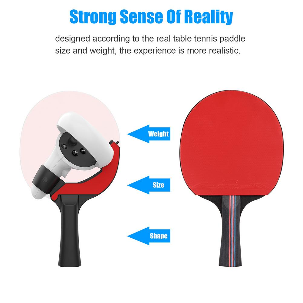 VR Controller Paddle Handle Table Tennis Racket Grip For Oculus Quest 2 VR Accessories Highly Realistic Improve VR Experience enlarge