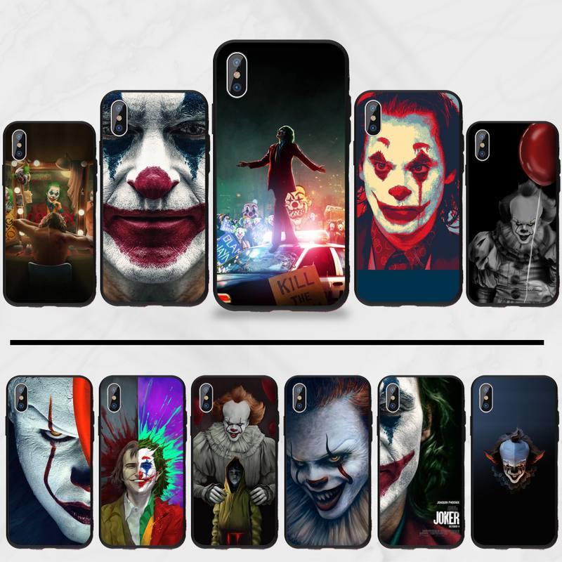 Palhaço jack arte tpu silicone macio caso de telefone capa para iphone 5 5S se 5c 6 s 7 8 plus x xs xr 11 pro max