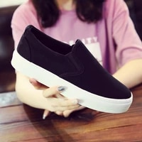 women flats loafers canvas slip on flat shoes woman sneakers casual shoes black ladies shoes