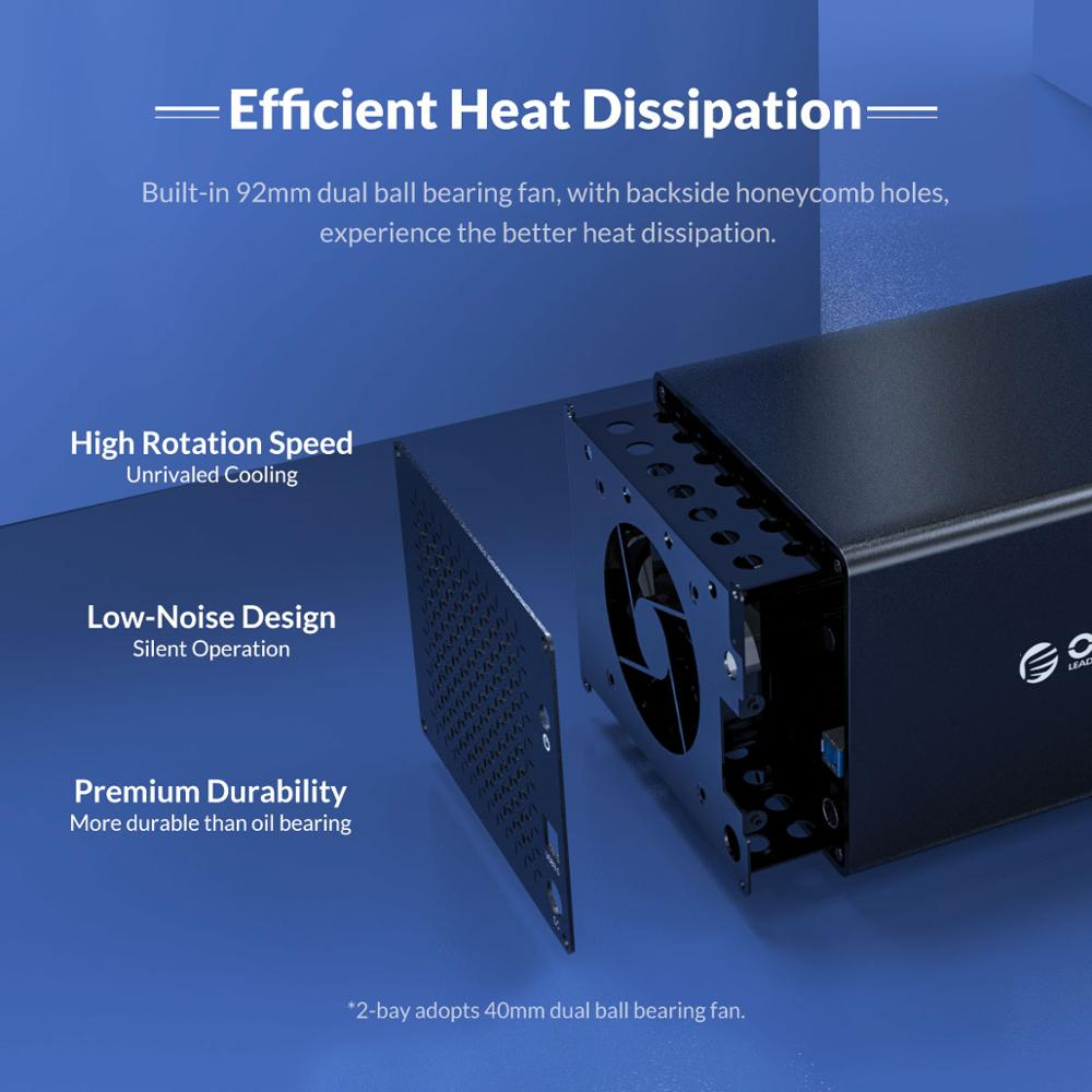 ORICO NS Series 5 Bay 3.5'' USB3.0 with RAID HDD Docking Station 78W Power Adapter HDD Enclosure Box Support 5Gbps HDD Case enlarge