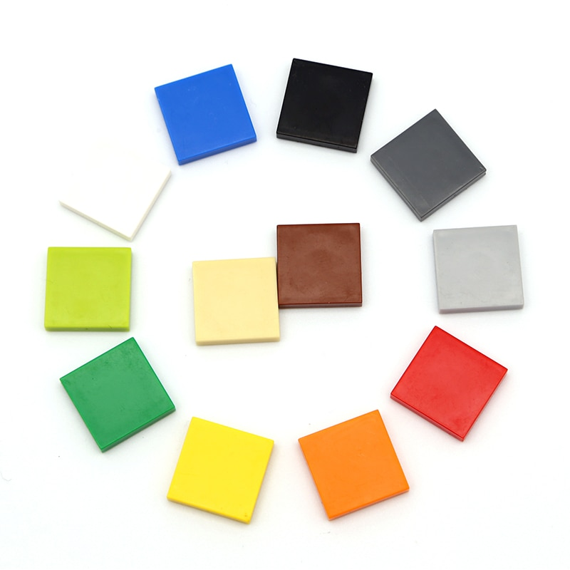 AliExpress - 1000pcs DIY Building Blocks Figure Bricks Ceramic Tile 2×2 Educational Creative Size Compatible With 3068 Toys for Children
