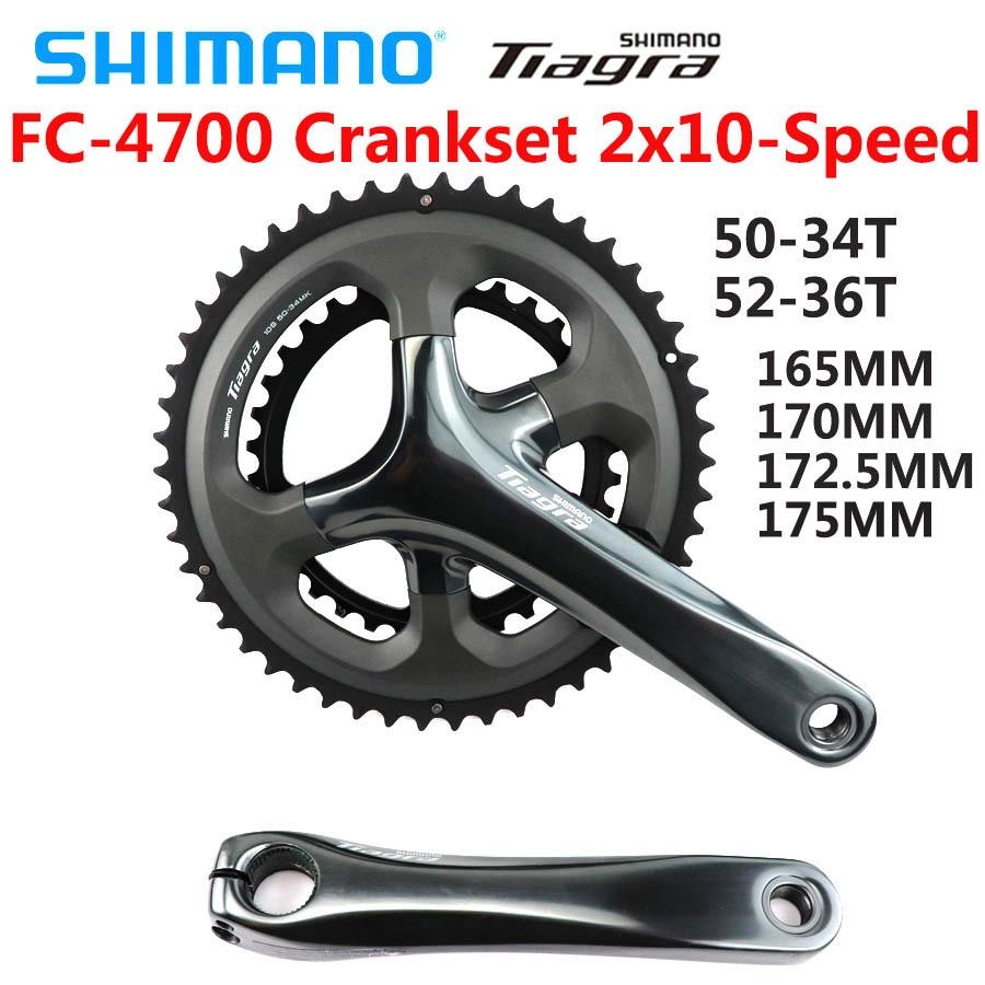 SHIMANO Tiagra FC 4700 FC-4700 HOLLOWTECH II CRANKSET Crankset 2x10-Speed 50-34T 165 مللي متر 170 مللي متر 172.5 مللي متر دراجة أجزاء