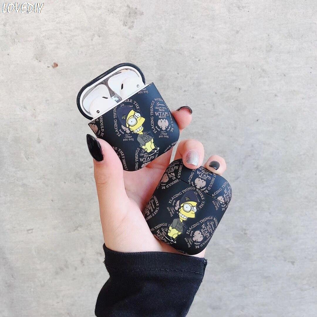 Funda de auriculares Bluetooth inalámbrica de lujo Japón WTAPS para Apple AirPods auriculares de carga caja mate para Airpods 1 2 Capa