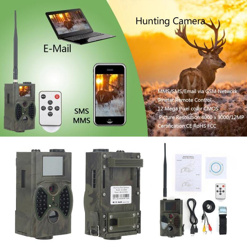HC300M caza Cámara GPRS 12MP 1080P foto SMS MMS 9V 9V Digital HD de infrarrojos de visión Chasse de la vida silvestre de vigilancia pista Cam