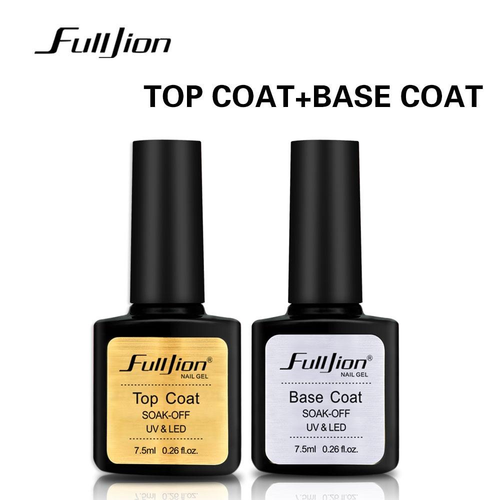 Fulljion Matte Top Base Coat Прозрачный лак для ногтей Vernis Semi Permanent UV Soak Off Гель-лак для ногтей Лак для ногтей Грунтовка Гель-лак недорого