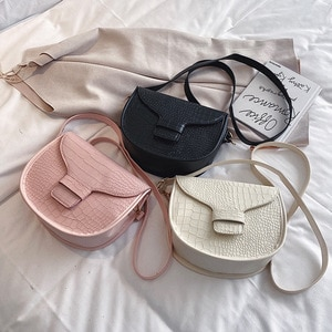 New Saddle Bag 2020 New Trendy Autumn and Winter Crocodile Pattern Shoulder Bag Western Style Retro Textured Small Bag Messenger
