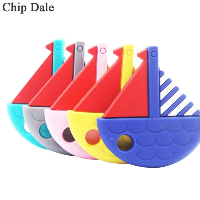 Chip Dale 1 pieza de recipiente Naval mordedor de bebé de grado alimenticio juguete de dentición para chico niño BPA libre de silicona Molar colgante regalos