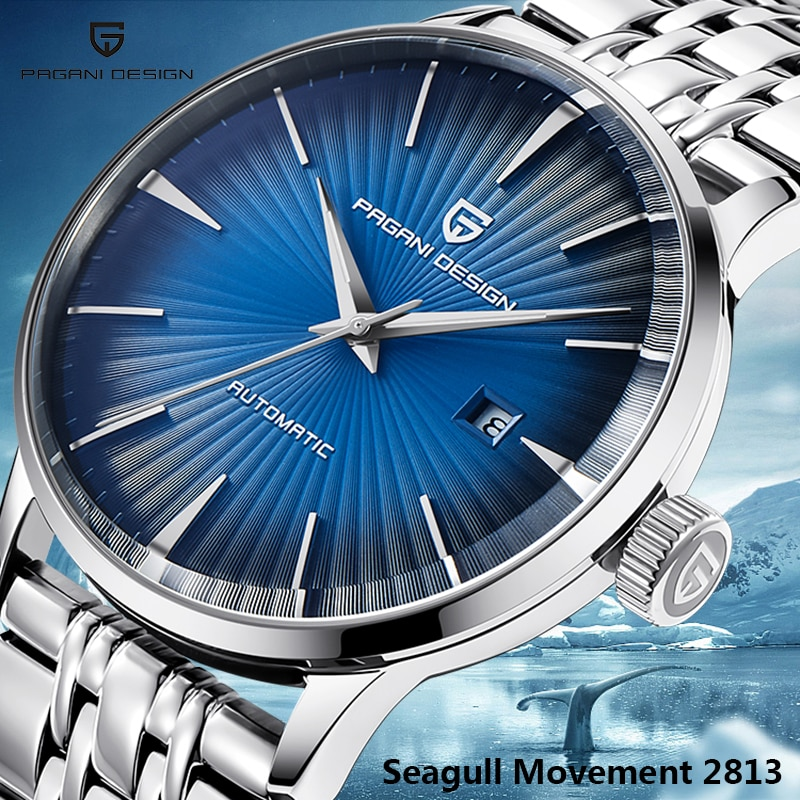 PAGANI DESIGN-ساعة يد رجالية, ساعات رجال الأعمال الأوتوماتيكية تاريخ ساعة اليد رجال الأعمال أعلى علامة تجارية فاخرة بسيطة ساعة ميكانيكية Relogio Masculino