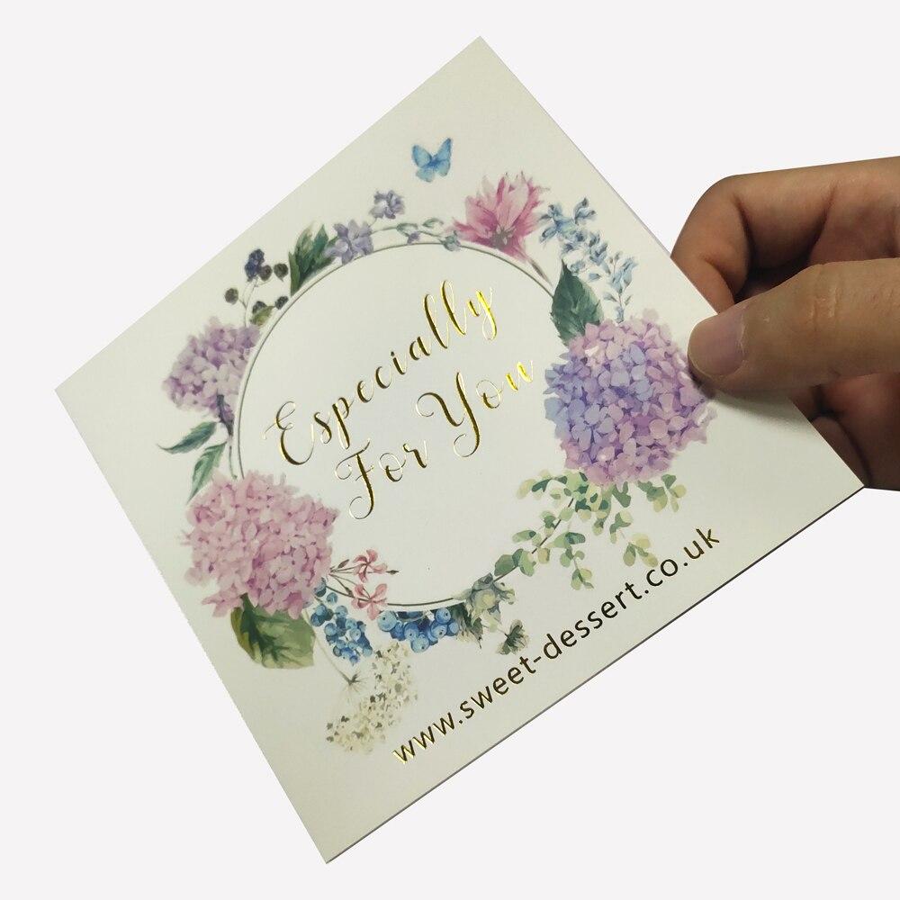 Печать визитных карточек на заказ Золотое золото