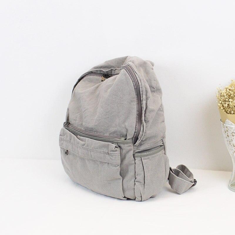 جديد غسلها حقيبة من القماش بسيطة عادية الفن حقيبة ظهر الطالب صافي فتاة حمراء بلون حقيبة مدرسية الإناث