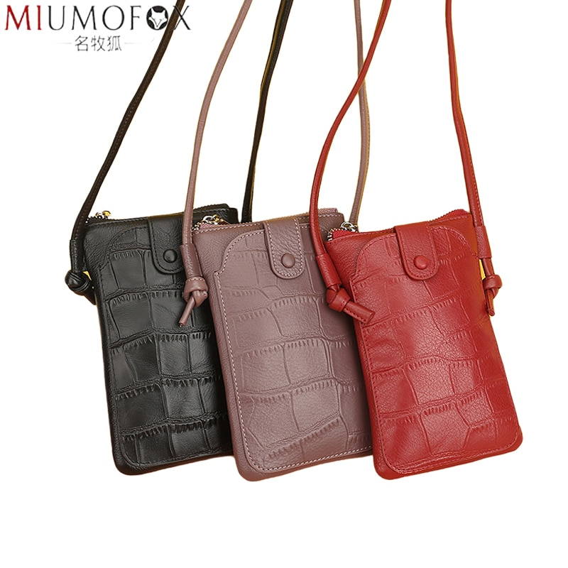 2021 New Leather Women Shoulder Bag Genuine Leather Softness Small Crossbody Bags for Woman Phone Messenger Bags Mini Clutch Bag women hand bag genuine leather large envelope 2017 new multi function crossbody bags for women evening clutch bags