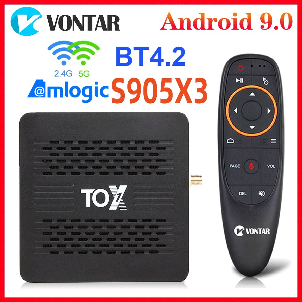 TOX1 Amlogic S905X3 Smart TV BOX Android 9 TVbox 4GB RAM 32G ROM Dual Wifi 1000M BT4.2 4K Set Top Bo