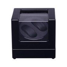 Boîte de remontoir de montre, boîte daffichage automatique en bois de remontoir de montre pour des montres de mechinal 2 + 0