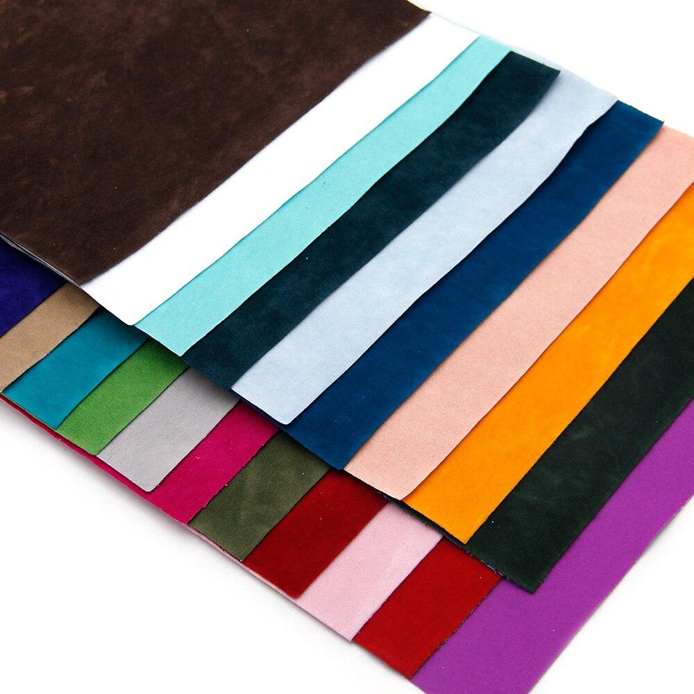 David acessórios 20*34cm lados duplos veludo falso artificial couro sintético tecido arco do cabelo diy artesanato 1 peça, 1yc5688