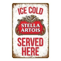 vintage ice cold fosters coors beer metal signs wall plaque home bar pub club decor famous whiskey wall iron poster