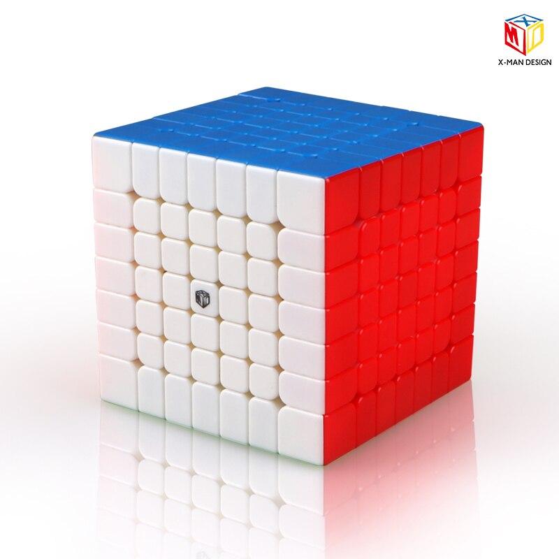 Qiyi X-hombre diseño de chispa y chispa M 7x7x7 magnético cubo profesional Mofangge 7x7 Magic Speed cubo giro juguetes educativos