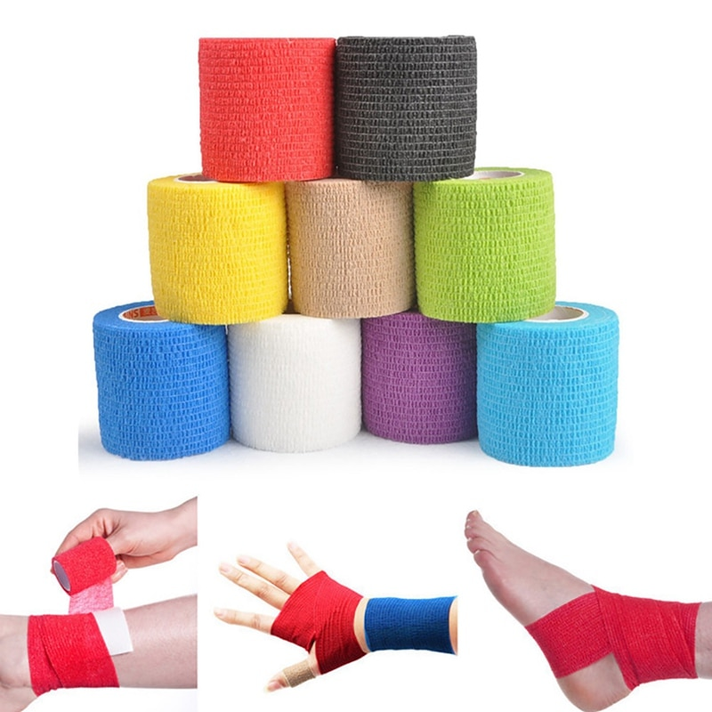 Non Woven Bandage Wrap Self Adhesive Breathable Elastic Stretch Sports Tape For Pet Dog Newest Arriv