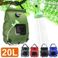 20l water bags outdoor camping solar shower bag foldable heating camp shower hiking climbing bath bag switchable shower head