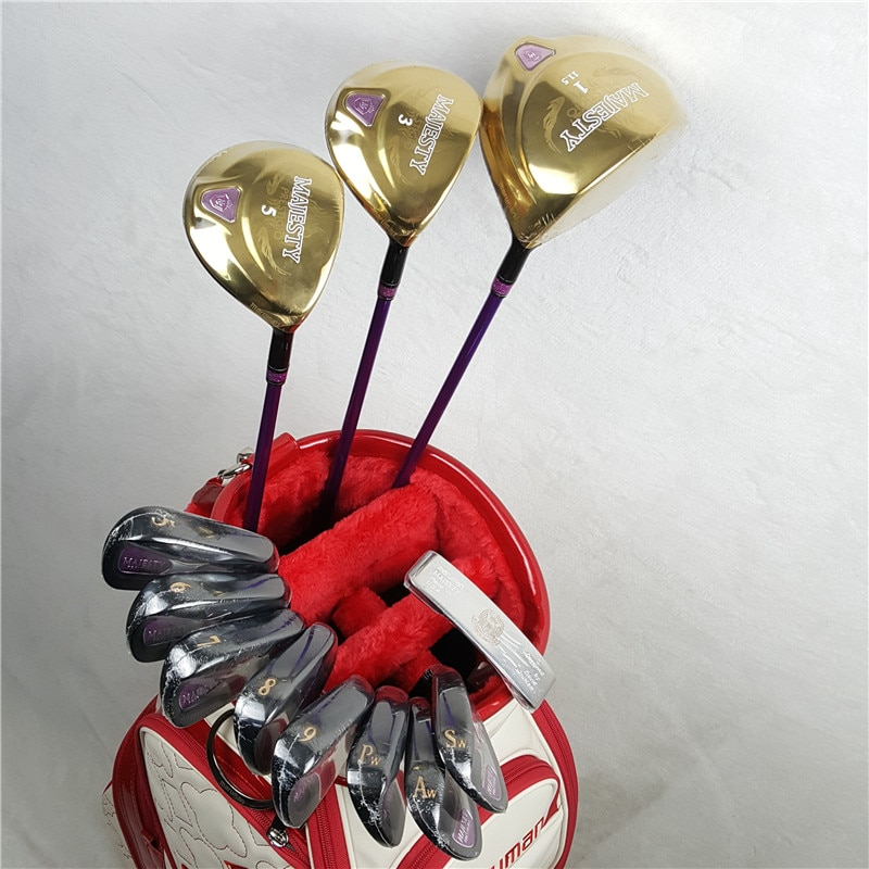 Ladies Golf Club Set Maruman Majesty Prestigio 9 Golf Club Irons Graphite Fairway Wood and Putters Free Shipping (no bag)