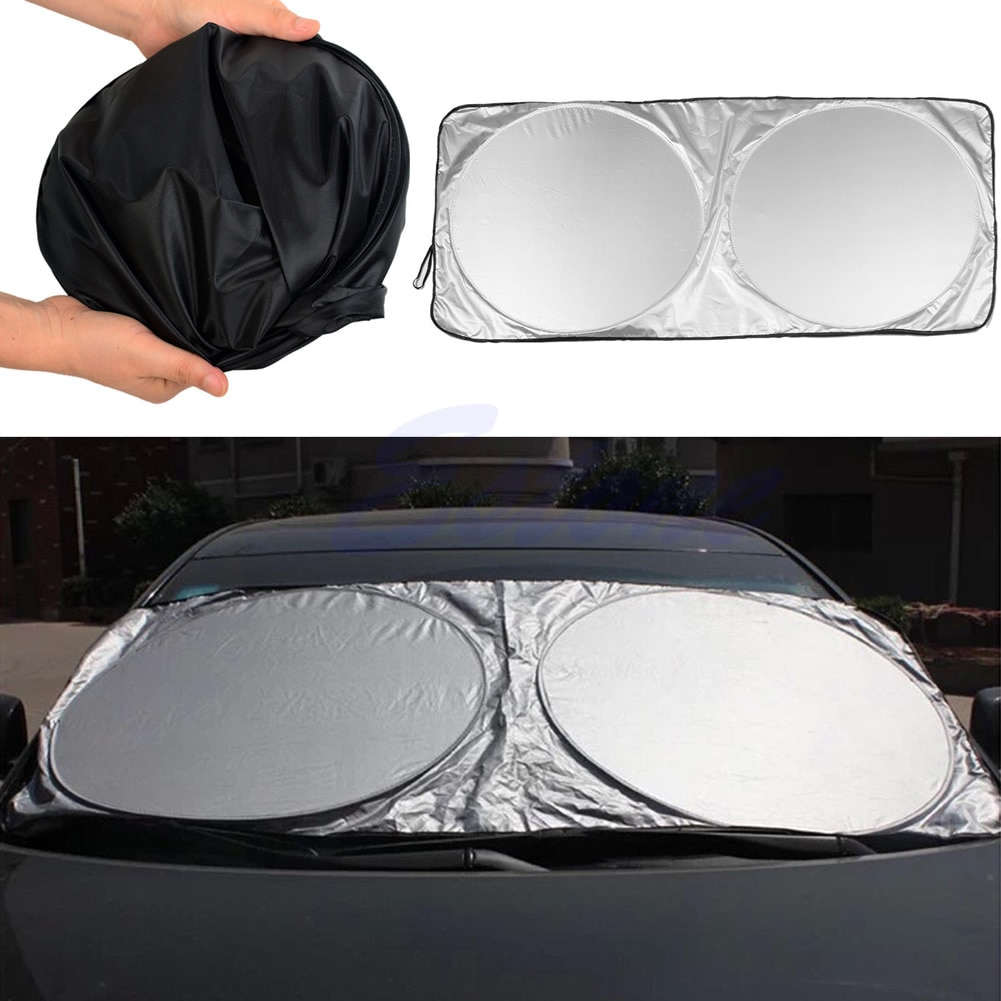 2021 New Jumbo Folding Front Rear Car Window Sun Shade Auto Visor Windshield Cover Block