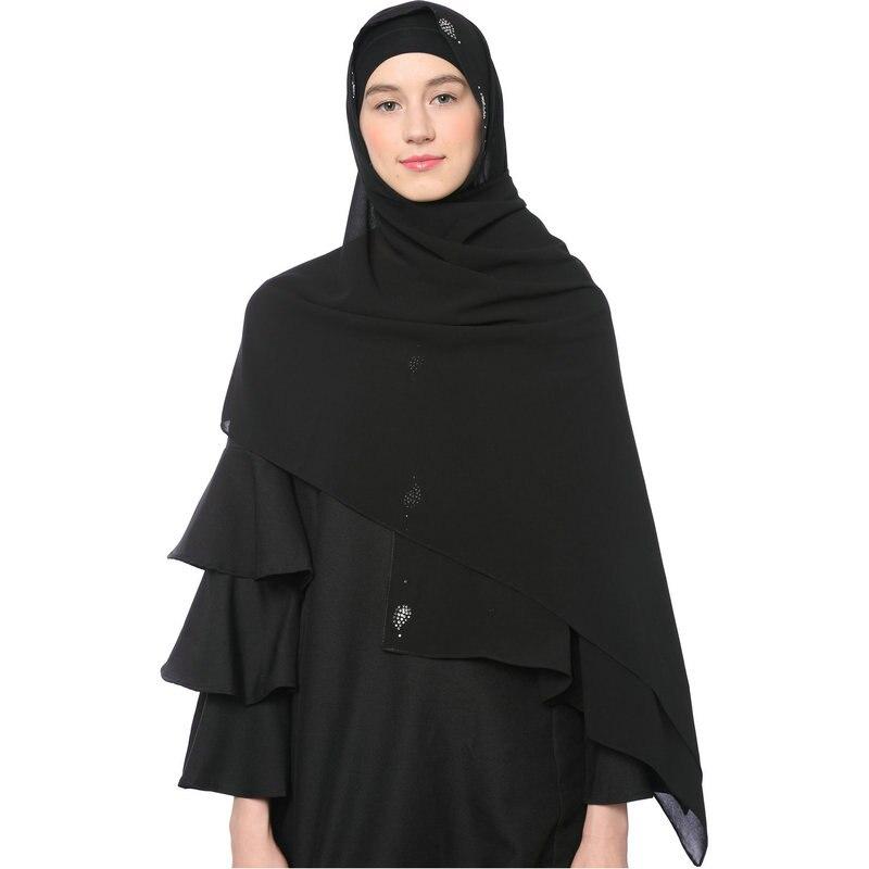 Pañuelos para la cabeza musulmanes borde hueco listo para usar Hijab instantáneo al-amira Muslima chal banda islámica urdimbre de cabeza