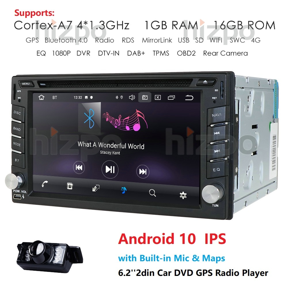 2 din android 10.0 car dvd for nissan qashqai x-trail almera juke universal car multimedia player gps navigation mirror link cam