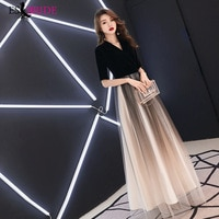Formal Dresses Women Elegant Fashion A-line Long Lace Sexy V-neck Party Evening Dresses Plus Size ES1880 prom dresses