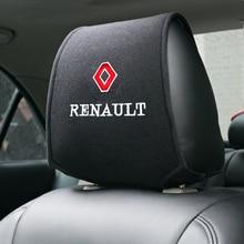 1pc voiture appuie-tête couvre intérieur accessoires autocollant pour Renault Duster Megane 2 Logan Clio Auto Protection tampons housses de siège de voiture