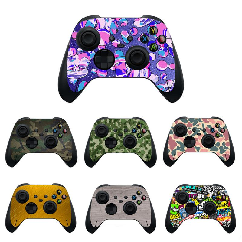 Anti-skid Colorful Camo Case Cover Skin Sticker For Xbox One,S,X,PS5 Controller For XBOX SERIES S/ X-RAY GRIP Mask Anti-skid