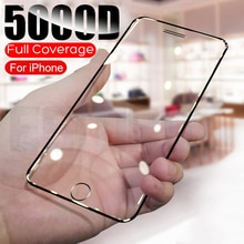 5000D Full Protective Tempered Glass For iPhone SE 2020 6S 7 8 Plus Glass Screen Protector on iphone