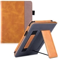 BOZHUORUI Stand Case for All-New Kobo Nia Tolino Page 2 e-Reader - PU Leather Protective Cover with Hand Strap Auto Sleep Wake