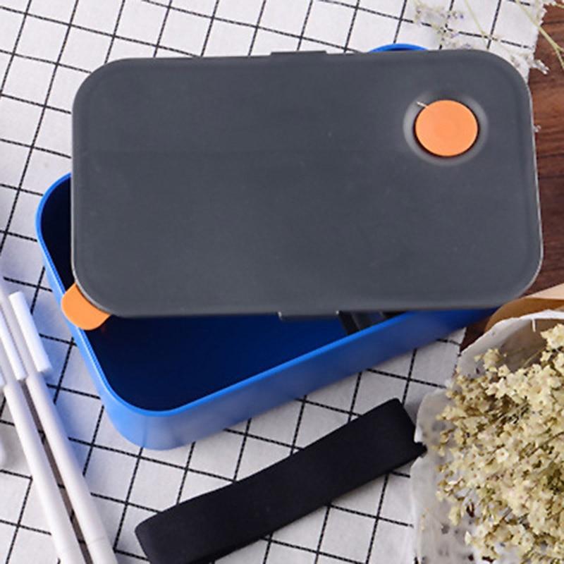 Fiambrera de microondas a prueba de fugas de 1000ML con 2 compartimentos desmontables ecológico BPA caja Bento RT99