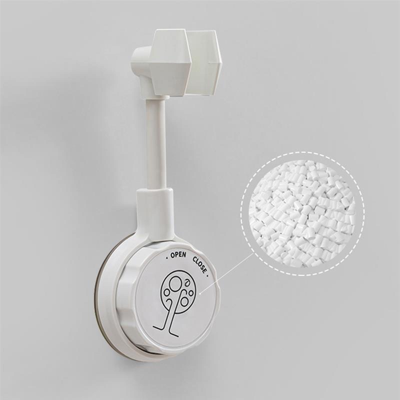 Регулируемый держатель для душа, универсальный кронштейн для душа в ванную комнату, базовая насадка, стойка на присоске, белый цвет