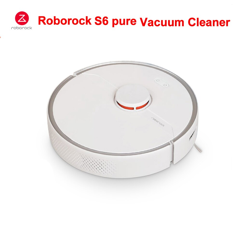 Roborock S6 Pure Vacuum Cleaner Automatic Smart Cleaner Wet Mopping Carpet Dust Sweeping Robot Robotic Wireless APP Control Home