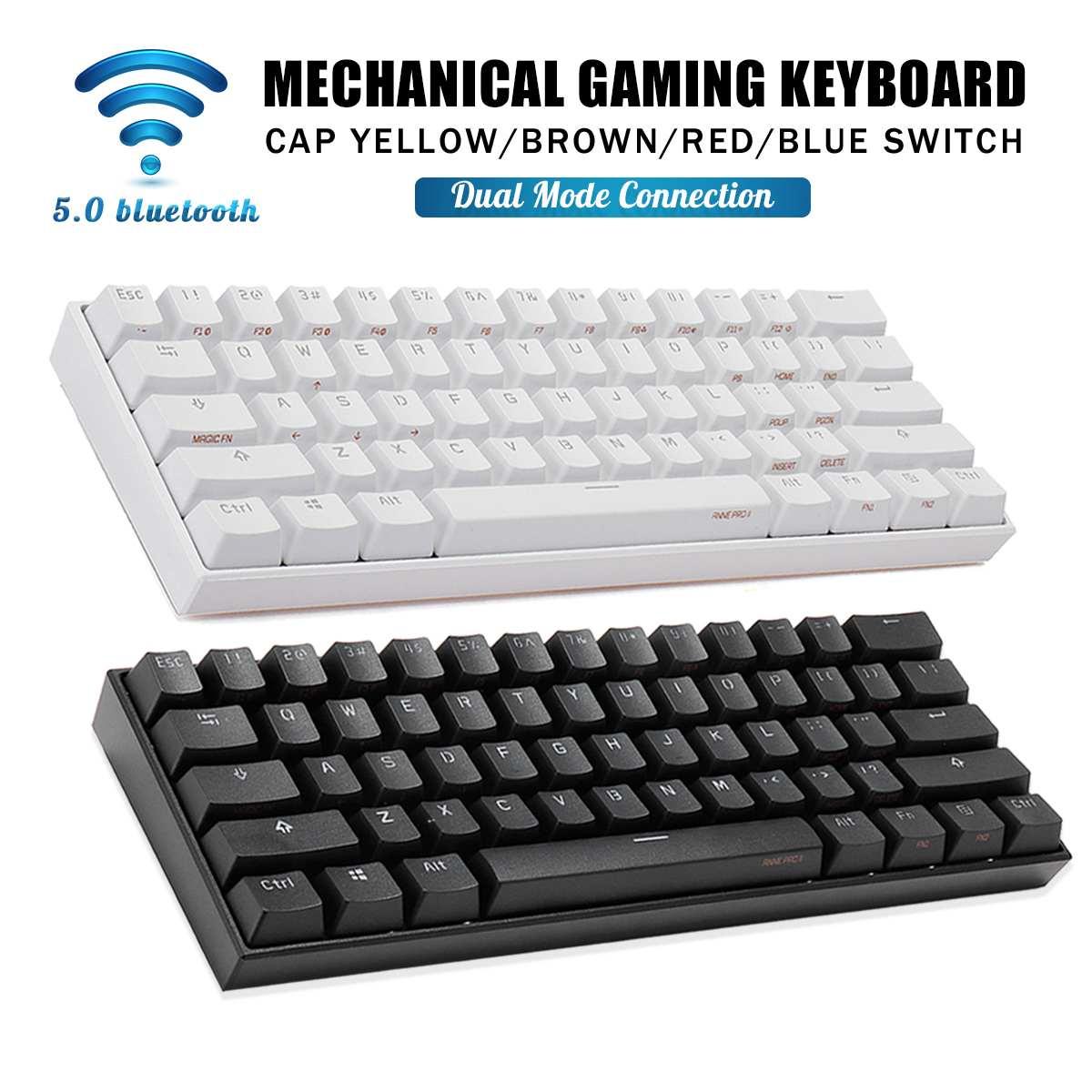 Anne Pro 2 NKRO Mini Mechanical Keyboard bluetooth 5.0 Type-C RGB 60% Gateron Kailh Red Brown Yellow Switch Gaming Keyboard enlarge
