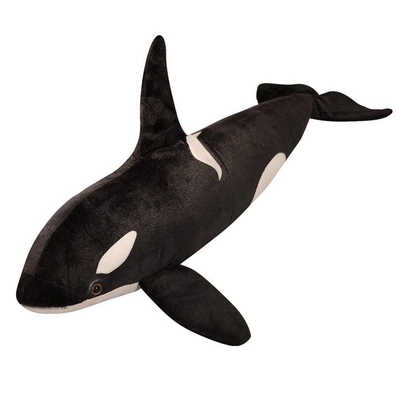 75/130cm, bonito, nuevo, tamaño grande, divertido, juguete de ballena asesina, almohada de peluche, muñeco de peluche de pescado blando, cojín relajante, regalo para niños
