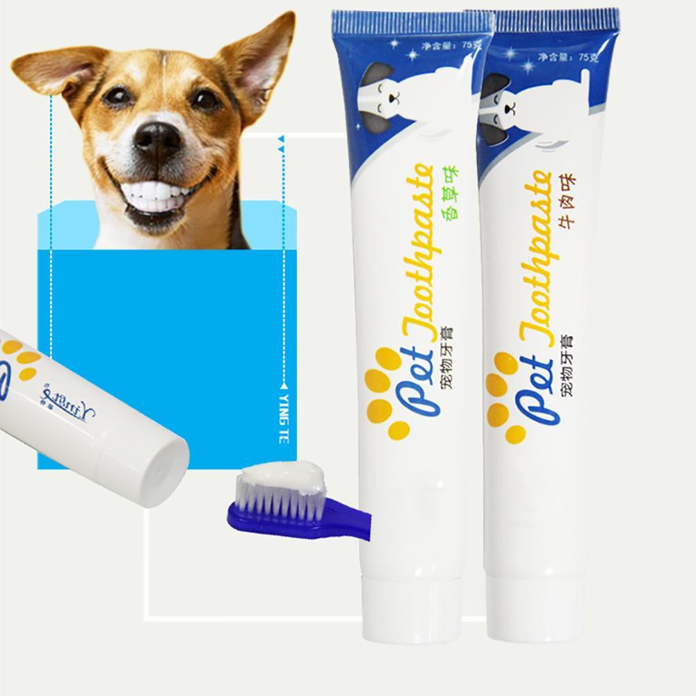 ¡Gran oferta! Pasta de dientes comestible e inocua para perros y gatos, blanqueamiento dental, cuidado de limpieza dental, productos de higiene bucal para mascotas