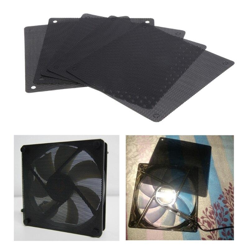 5 unidades, caja de PVC de malla para ordenador, filtro de polvo para ventilador, cubierta para chasis antipolvo, cubierta para polvo J6PB