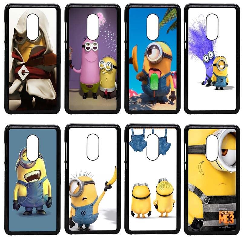 Funda amarilla de plástico duro para teléfono móvil de Minions para Xiaomi Redmi 3X Mi 6 5 5S Plus Note 4X 2 3 3S 4 Pro Prime Shell