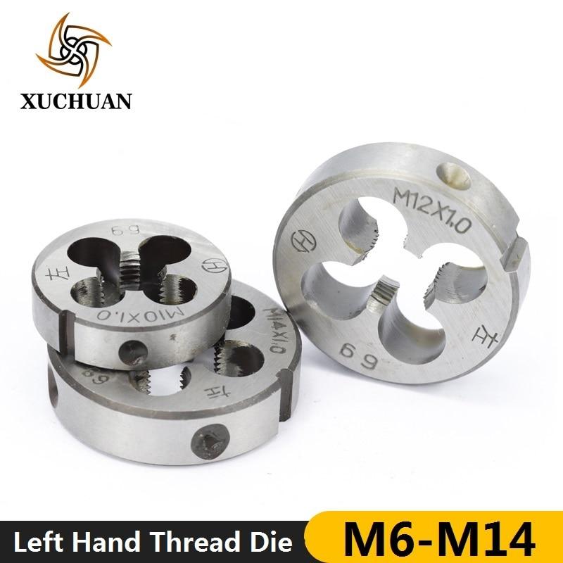 1pc Metric Left Hand Thread Die Machine Screw Die Hand Tapping Tools M6/M10/M10x1.0/M10x1.5/M12x1.0/M14x1.0