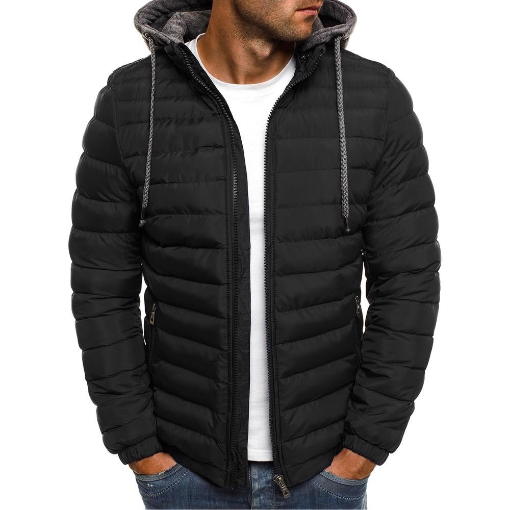 Высококачественная Мужская зимняя куртка с капюшоном, Повседневная теплая осенняя куртка, толстая шапка, Белая Мужская парка, пальто