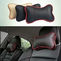1pcs top quality pu leather car neck pillow headrest neck rest support cushion neck protection rest pillows for seat
