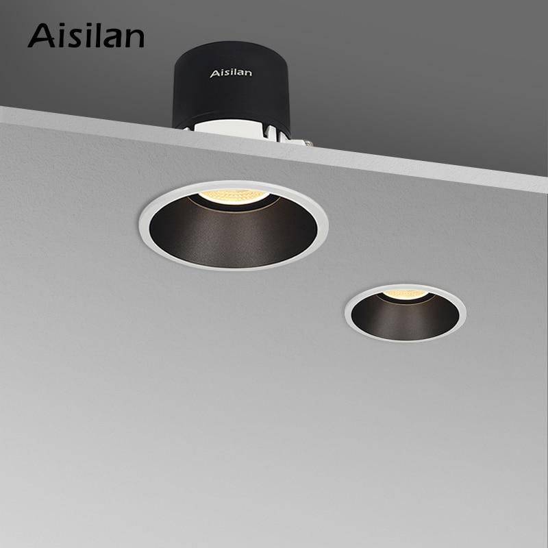 Aisilan-مصباح سبوت LED ، إضاءة داخلية ، مصباح سقف ، فتحة مفتوحة ، الحد الأدنى ، غرفة المعيشة ، 7.5 سنتيمتر