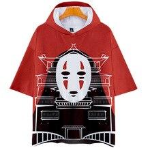 Spirited Away Hooded T Shirt for Men Women Kid Hood Tshirt Studio Ghibli Hayao Miyazaki Chihiro Japanese Anime Kawaii Faceless
