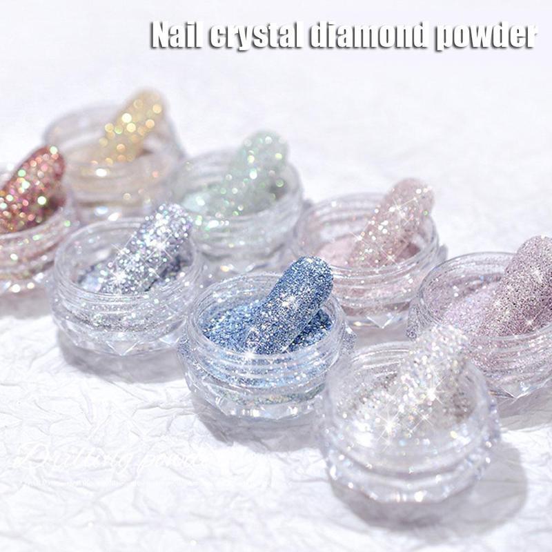 New Crystal Diamond Nail Powder For Women Nail Decoration Shiny Nail Art Powder Manicure Art Drilling Powder