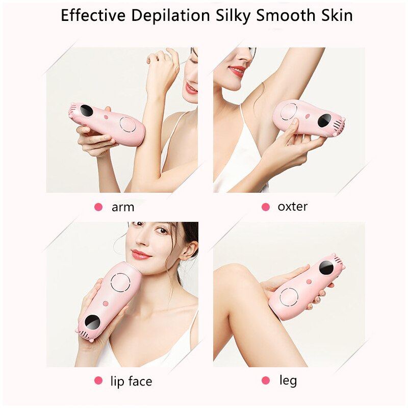 Freezing Point And Painless Laser Hair Removal Device Whole Body Household Pulse Light Photon Hair Removal Machine enlarge