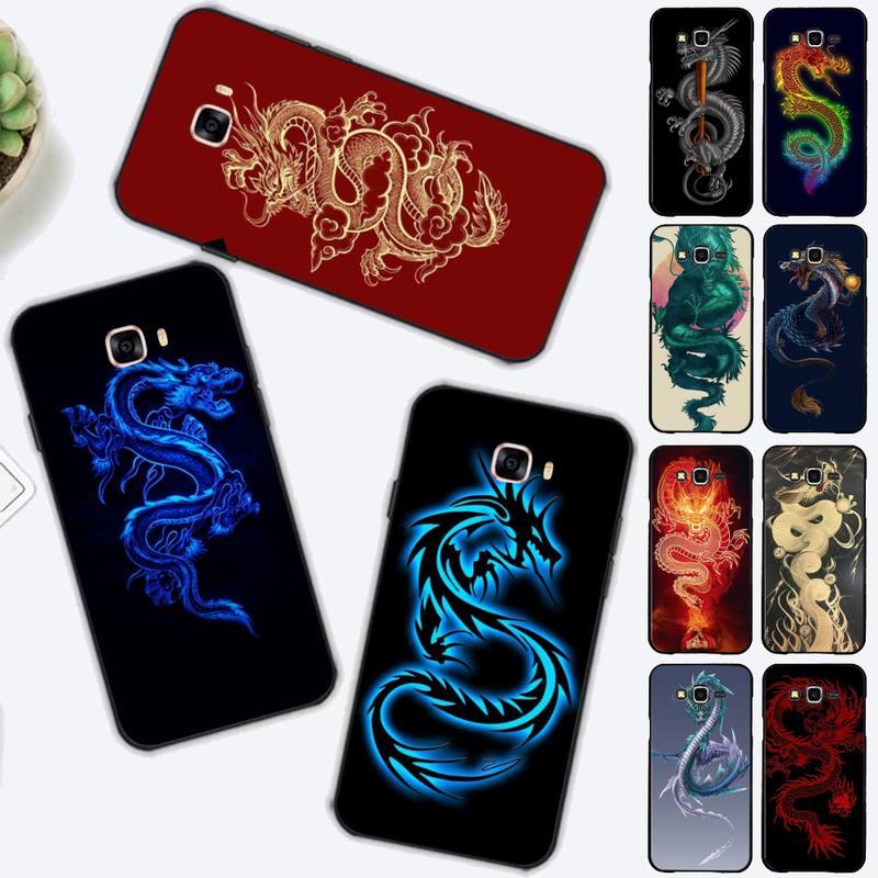 LVTLV Dragón Rojo, caso de teléfono para Samsung J4 más J2prime J5 J6 plus 2016 J7 8 core 2017