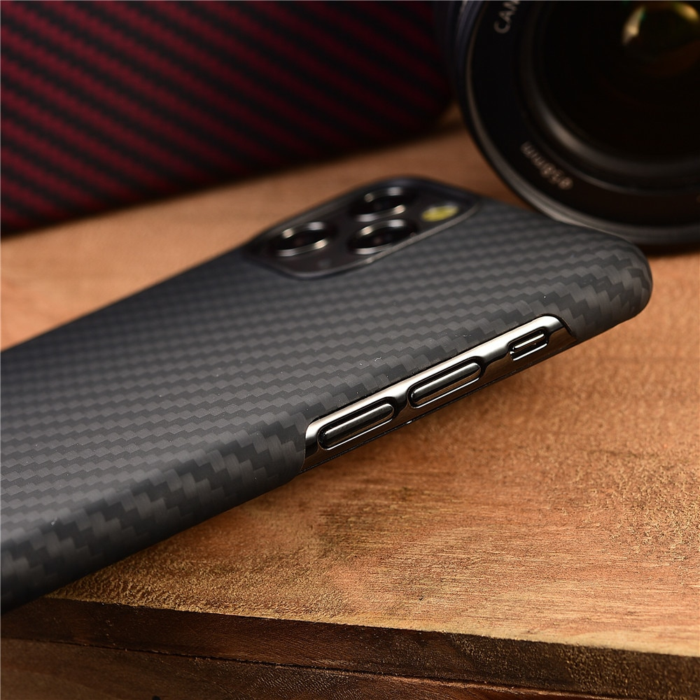 Aramid fiber Back Cover For apple iphone 11 pro max XS XR X 12 mini Protective Case carbon Cases and covers bumper enlarge